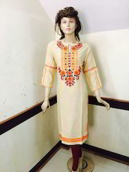 Sleb Rayon Embroidered Long Kurti