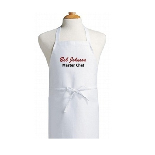White Plain Cooking Aprons for Kitchen