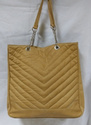 Zip Quilted Leather Shopper Bag