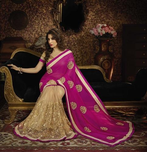 afdf1f439f Gorgeous And Beautiful New Designer Party Wear Saree - Angels ...