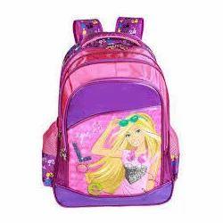Printed Pink Girl School Bag