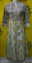 Cotton Stand Collar Kurti