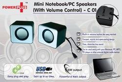 c01 power plus mini notebook pc speakers w ith volume co