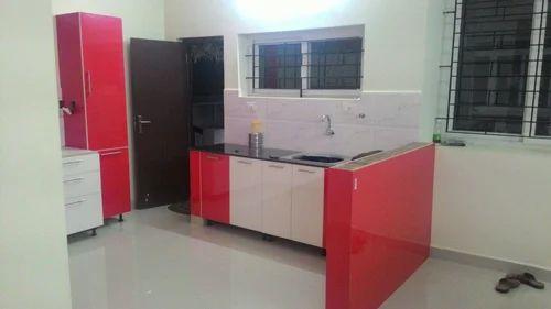Red Color Modern Kitchen