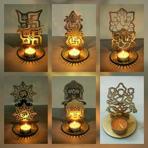Metal Diyas Lakshmi Ganesha Shadow Diya Wholesaler From