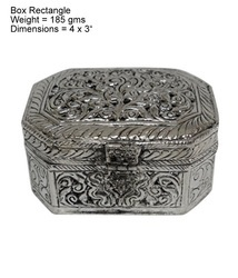 White Metal Octagon Box