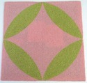 Pink And Green Stupendous Home Decore Square Embroidered Placemat