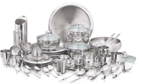 Stainless Steel Premium Dinner Set  sc 1 st  IndiaMART & Stainless Steel Premium Dinner Set at Rs 600 /piece | Dinnerware Set ...