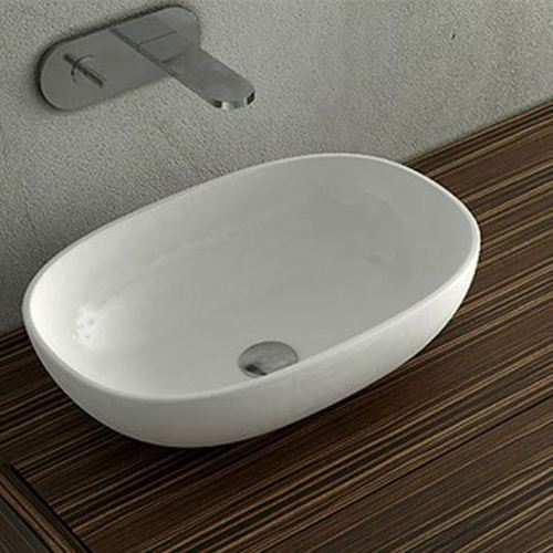 White Florence Table Top Wash Basin Rs 700 Piece