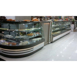 L Shape Sweet Display Counter