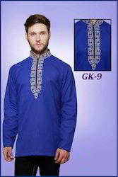 fancy mens short cotton kurta