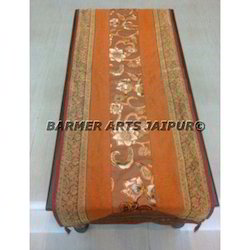 Bed Runner Velvet Zari Border
