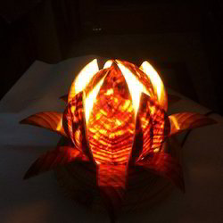 Wooden Lotus Table Lamp