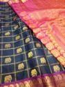 Gadwal Silk Elephant Buta Saree
