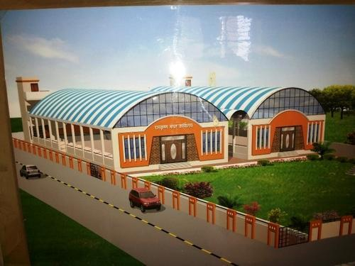 Round Marriage Hall Mpw Roofing Pebs Manufacturer In Beed