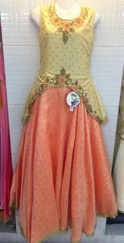 920fa7fd15 22 - 32,34 - 38 Multicolor Designer Long Party Dress, Rs 1650.00 ...