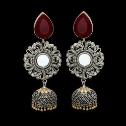 Arts Jewels Brass Antic Two Tone Earring Jhumka, Size: 3 Inch