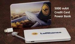 Credit Card 5000 mAh Power Bank for Corporate Gifting