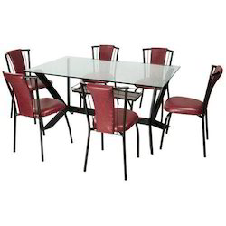 Precise Black Red Six Chair Dining Table Set For Home Hotel Etc Rs 13500 Piece Id 13787111355
