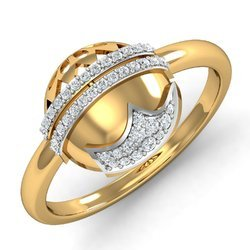 14k Hallmark White Stone Gold Diamonds Ring