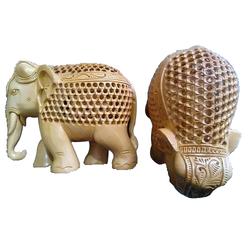 Stylish Wooden Elephant