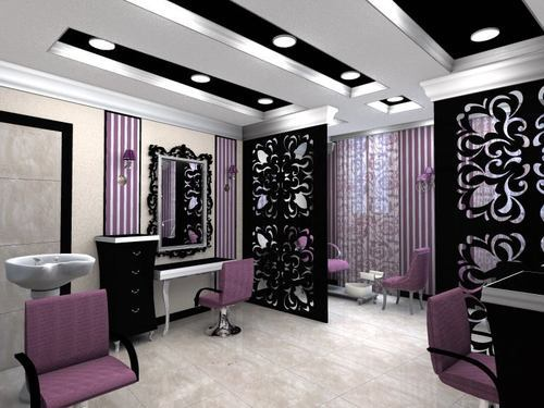 Beauty Parlor Interior At Rs 600 Square Feet Beauty Parlor Designing Beauty Parlour Interior Work Salon Designing Parlour Interior Design Parlour Interior Designing Service Commercial Interior Decorator Services Sky Interiors