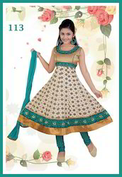 Banarsi Brocade Kids Anarkali Suits