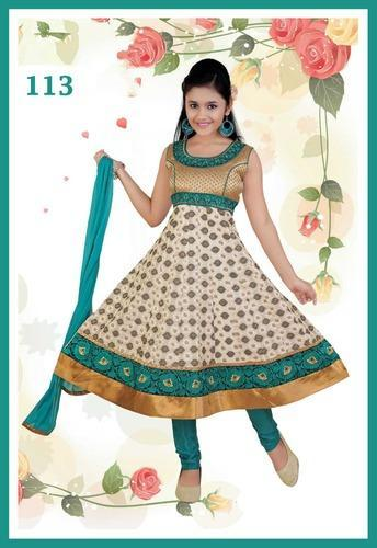4a551be7c8 Banarsi Brocade Kids Anarkali Suits at Rs 995 /piece(s) | Children ...