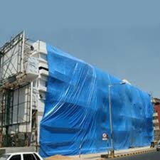 Blue Construction Covering Tarpaulins, Thickness: 5 To 20 mm