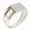 SHRI0592 Zirconia Silver Men's Ring