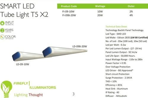 20W 4Ft LED Tube Light, 11 W - 15 W And 16 W - 20 W