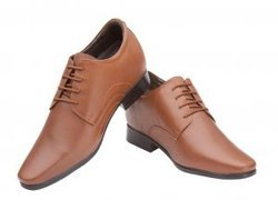 Leather Elevato Height Increasing Shoes -  Wedding Special Tan