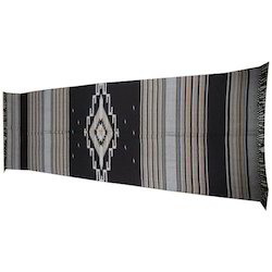 Fine Wool Black Kullu Shawl