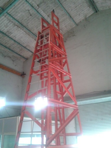 Red Aeron GRP Mobile Telescopic Platform Ladders