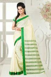 Casual Wear Cotton Saree, 5.2 m (separate blouse piece)