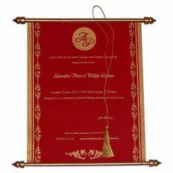 Scroll Invitation Card