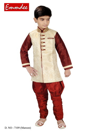 1021e54d08b0 Boys Maroon Kids Traditional Wear