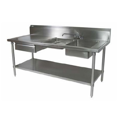 Two Sink Work Table