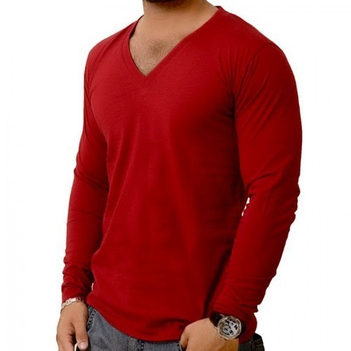 V Neck Full Sleeves T Shirts e8539e3b03fc