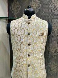 Linen Silk Party Wear Silk Nehru Jackets, Size: 36 To 48