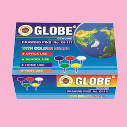 Globe Drawing Pin with Color Head(500pc)