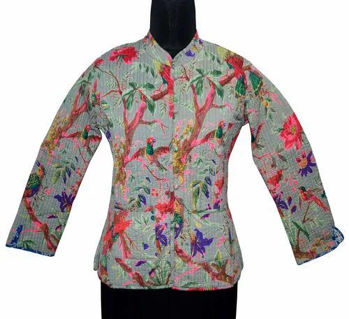 5d86c6aba5 Vintage Cotton Kantha Ladies Jacket, सूती जैकेट - Ramdev ...