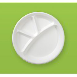 Compartment Round Disposable Plate