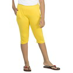 Girl Kids Yellow Color Capri