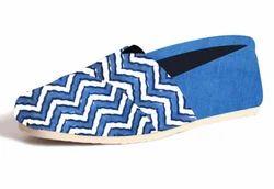 Printed Canvas Espadrilles Shoes, Size: 34-41