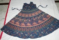 Blue Jaipuri Print Kurti