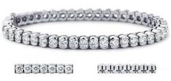 Diamond Tennis Bracelet in 18K Gold