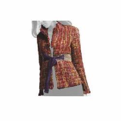Woven Silk Full Sleeve Jacket