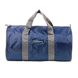 Blue And Grey Duffle Bag