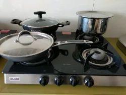 Four Alda 4 Burner LPG Glass Stove, For Kitchen, Model Name/Number: CTA143GT